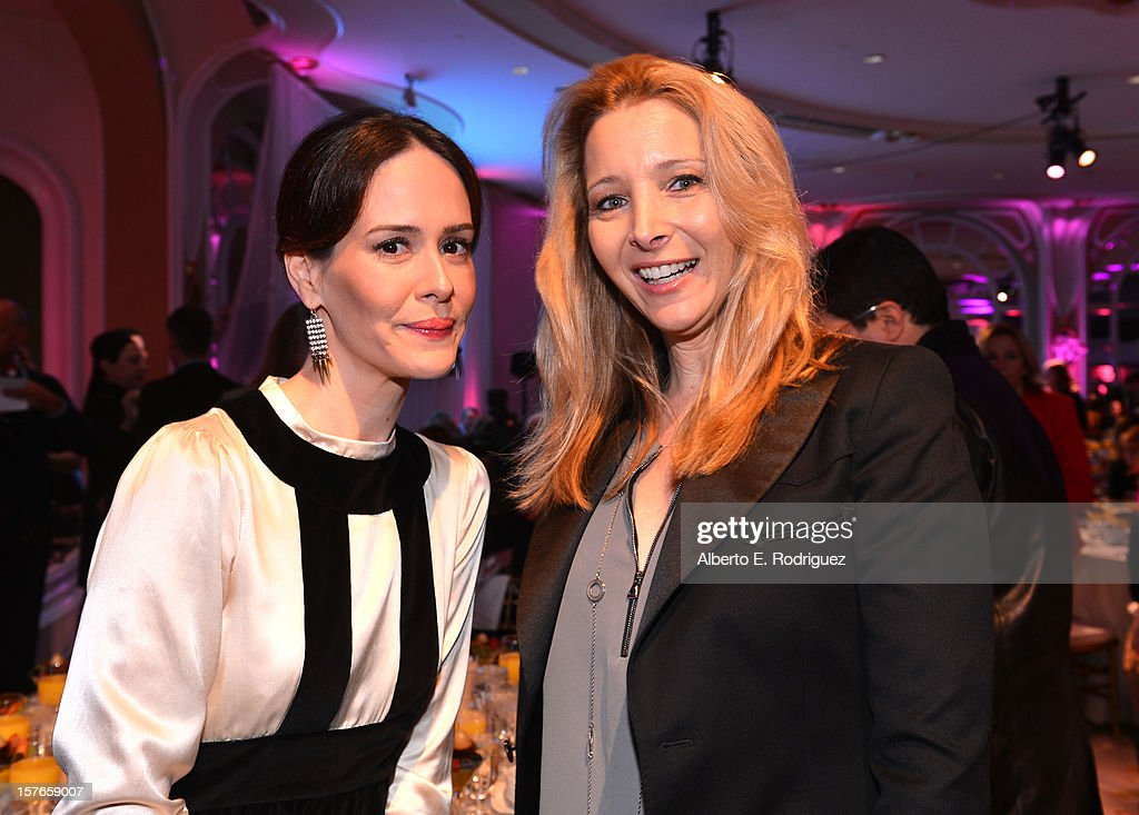 Actresses <a gi-track='captionPersonalityLinkClicked' href=/galleries/search?phrase=Sarah+Paulson&family=editorial&specificpeople=220657 ng-click='$event.stopPropagation()'>Sarah Paulson</a> and <a gi-track='captionPersonalityLinkClicked' href=/galleries/search?phrase=Lisa+Kudrow&family=editorial&specificpeople=202079 ng-click='$event.stopPropagation()'>Lisa Kudrow</a> attend The Hollywood Reporter's 'Power 100: Women In Entertainment' Breakfast at the Beverly Hills Hotel on December 5, 2012 in Beverly Hills, California.