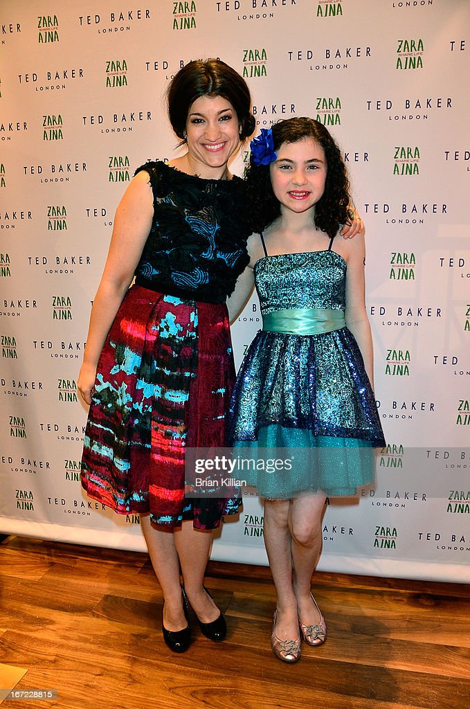 Actresses <a gi-track='captionPersonalityLinkClicked' href=/galleries/search?phrase=Sarah+Stiles&family=editorial&specificpeople=4878801 ng-click='$event.stopPropagation()'>Sarah Stiles</a> and Lila Crawford attend the Zara Aina Foundation Benefit at Ted Baker on April 22, 2013 in New York City.