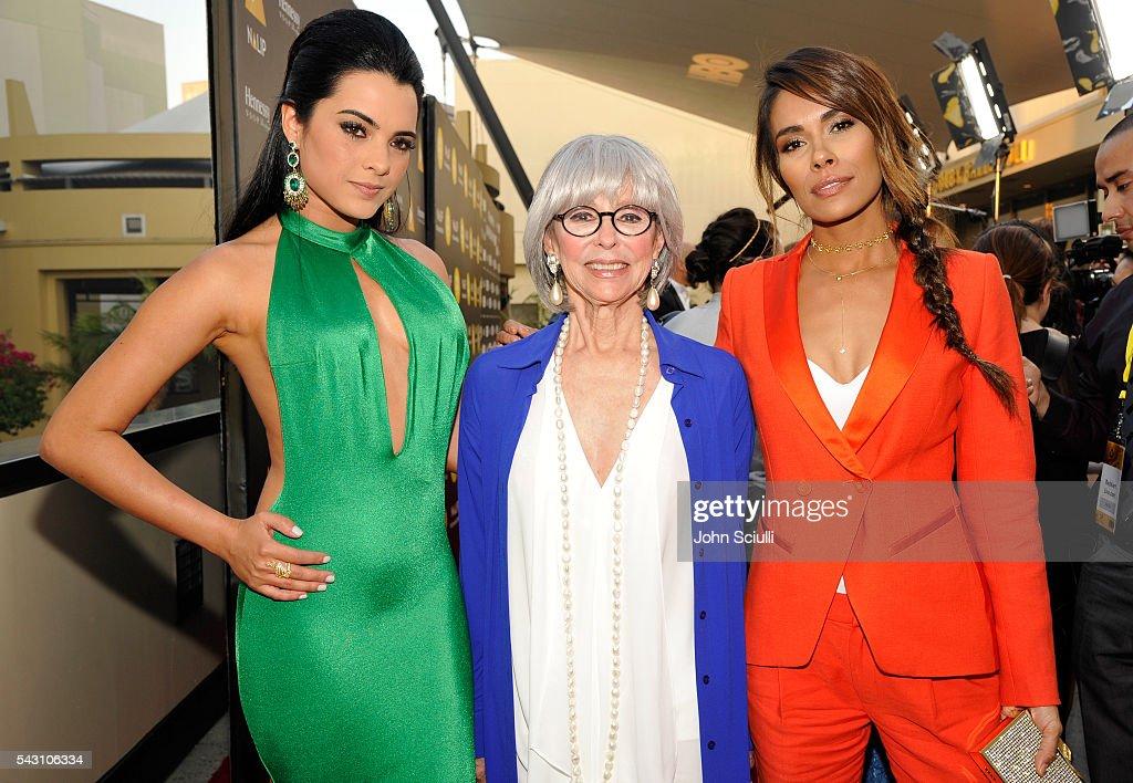 Actresses Scarlet Gruber, Rita Moreno, and Daniella Alonso attend the NALIP 2016 Latino Media Awards at Dolby Theatre on June 25, 2016 in Hollywood, California.