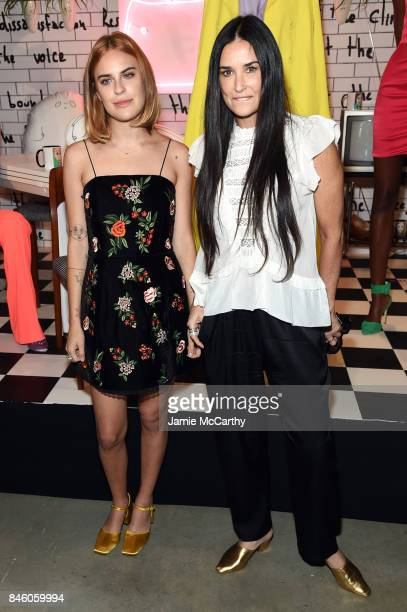 Actresses Scout Willis and Demi Moore at Alice Olivia By Stacey Bendet fashion show during September 2017 New York Fashion Week The Shows at Gallery...