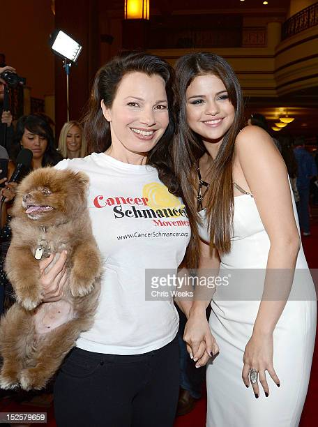 Actresses Selena Gomez and Fran Drescher attend a screening Of Columbia Pictures and Sony Pictures Animation's 'Hotel Transylvania' at Pacific...