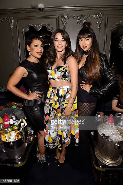 Actresses Selenis Leyva Ana Villafane and Jackie Cruz attend Waterford preview new revolutionary bold collection RebelxWaterford at the NYLON...