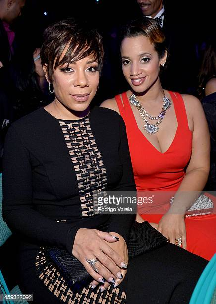 Actresses Selenis Leyva and Dascha Polanco attend the 15th annual Latin GRAMMY Awards at the MGM Grand Garden Arena on November 20 2014 in Las Vegas...