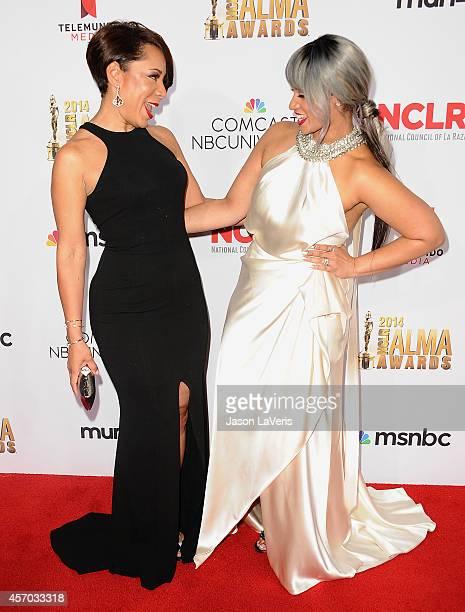 Actresses Selenis Leyva and Dascha Polanco attend the 2014 NCLR ALMA Awards at Pasadena Civic Auditorium on October 10 2014 in Pasadena California