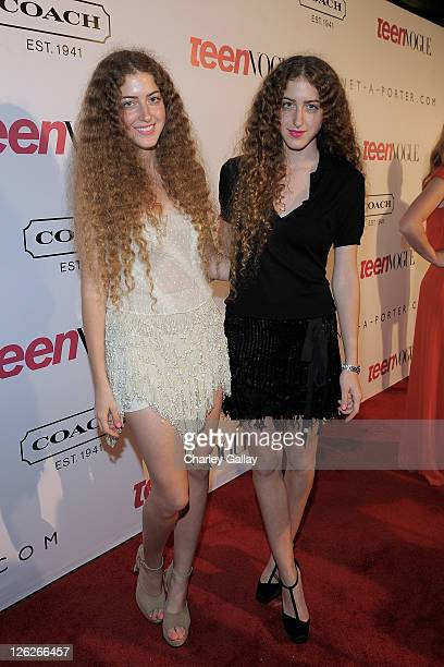 Actresses Selma and Haya attends the Ninth Annual Teen Vogue Young Hollywood Party at Paramount Studios on September 23 2011 in Hollywood California