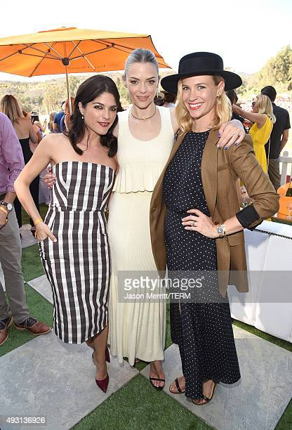 Actresses Selma Blair Jaime King and January Jones attend the SixthAnnual Veuve Clicquot Polo Classic at Will Rogers State Historic Park on October...