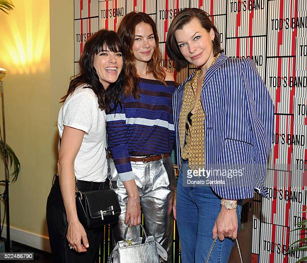 Actresses Selma Blair Michelle Monaghan and Milla Jovovich attend Baby2Baby Luncheon hosted by Kelly Sawyer TOD'S at Chateau Marmont on April 19 2016...