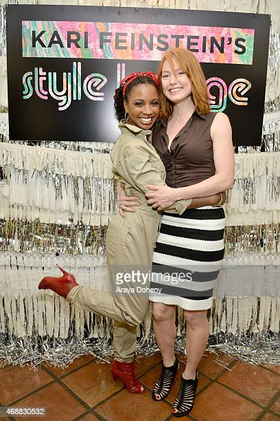 Actresses Shanola Hampton and Alicia Witt attend Kari Feinstein's Music Festival Style Lounge at Sunset Marquis Hotel Villas on April 7 2015 in West...
