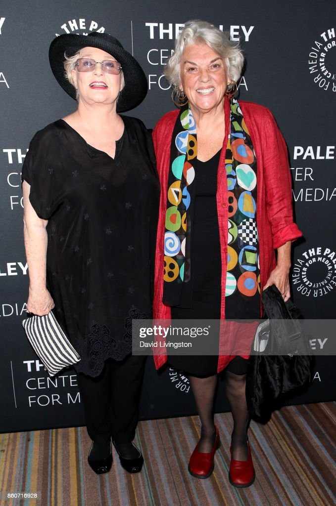Actresses Sharon Gless (L) and Tyne Daly attend Paley Honors in Hollywood: A Gala Celebrating Women in Television at the Beverly Wilshire Four Seasons Hotel on October 12, 2017 in Beverly Hills, California.
