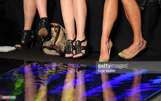 Actresses Shenae Grimes Sophia Bush and Molly Sims attend the Diane Von Furstenberg Fall 2010 Fashion Show during MercedesBenz Fashion Week at The...