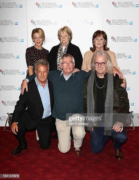 Actresses Sheridan Smith Maggie Smith and Pauline Collins director Dustin Hoffman and actors Tom Courtenay and Billy Connolly attend the 'Quartet'...