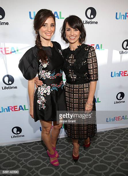 Actresses Shiri Appleby and Constance Zimmer attend The Emmy FYC Screening With The 'UnREAL' Cast and Executive Producers hosted by Lifetime at...