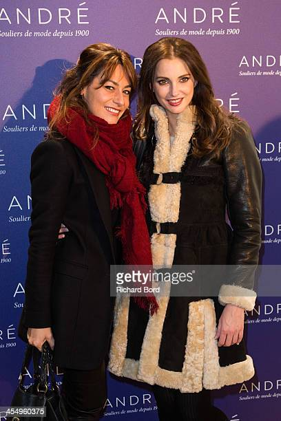 Actresses Shirley Bousquet and Frederique Bel attend the 'Shoes Flirting' party by Andre on December 10 2013 in Paris France