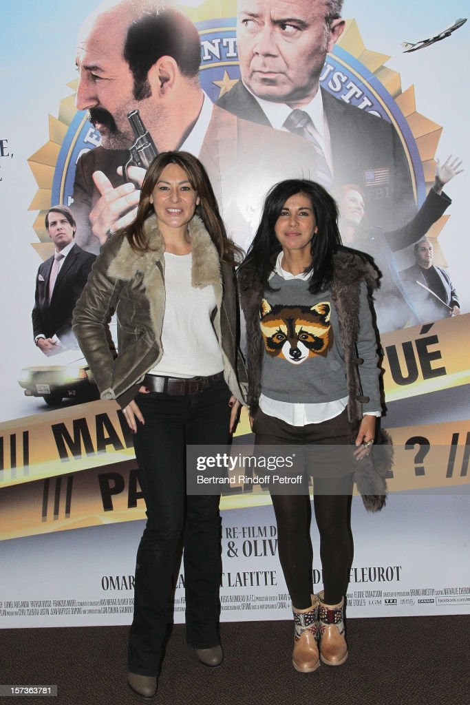 Actresses <a gi-track='captionPersonalityLinkClicked' href=/galleries/search?phrase=Shirley+Bousquet&family=editorial&specificpeople=233802 ng-click='$event.stopPropagation()'>Shirley Bousquet</a> (L) and Reem Kherici attend the Paris Premiere of the movie 'Mais Qui A Re Tue Pamela Rose', at Cinema Gaumont Marignan on December 2, 2012 in Paris, France.