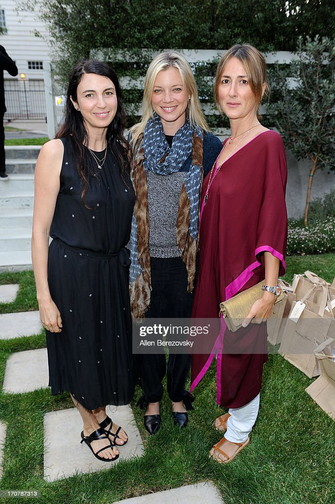 Actresses Shiva Rose, Amy Smart and Anna Getty attend the 'Just Label It' (GMO labeling) campaign awareness seminar hosted by Shiva Rose on June 17, 2013 in Pacific Palisades, California.