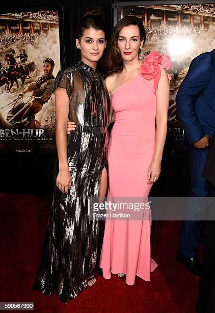 """Actresses Sofia BlackD'Elia and Ayelet Zurer attend the LA Premiere of the Paramount Pictures and MetroGoldwynMayer Pictures title """"BenHur"""" at the..."""