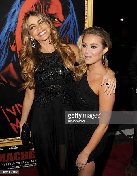 Actresses Sofia Vergara and Alexa Vega arrive at the premiere of Open Road Films' 'Machete Kills' at Regal Cinemas LA Live on October 2 2013 in Los...