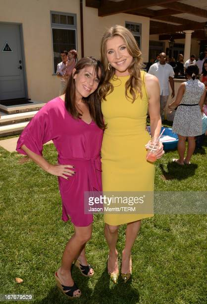 Actresses Soleil Moon Frye and Sarah Chalke attend the Huggies Snug Dry and Baby2Baby Mother's Day Garden Party held on April 27 2013 in Los Angeles...