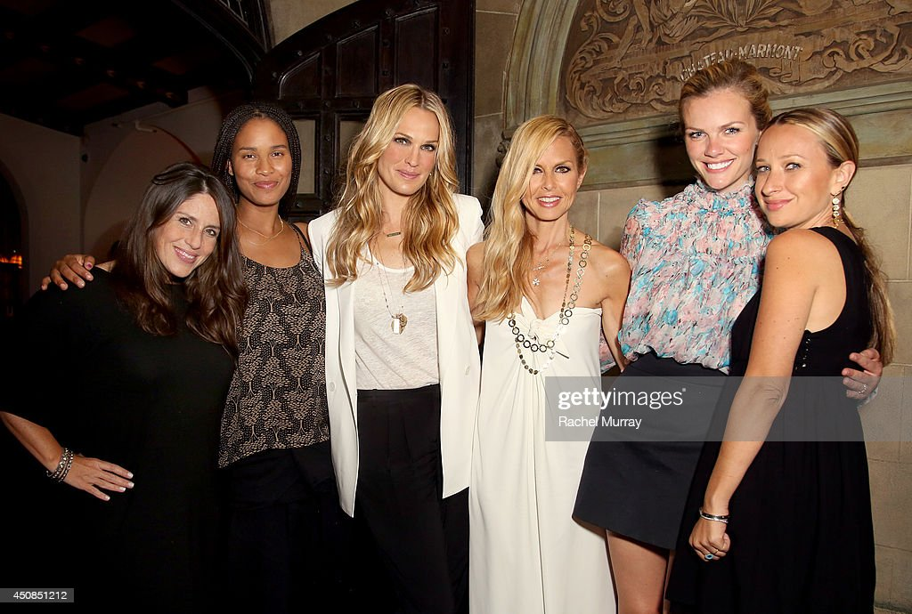 Actresses Soleil Moon Frye Joy Bryant Molly Sims designer/stylist Rachel Zoe actress Brooklyn Decker and jewerly designer Jennifer Meyer attend...
