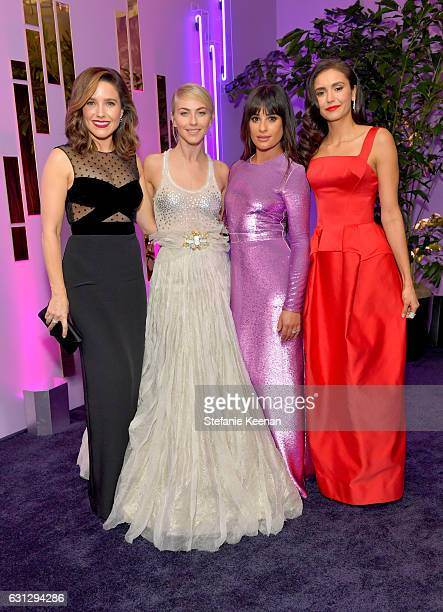 Actresses Sophia Bush Julianne Hough Lea Michele and Nina Dobrev attend The 2017 InStyle and Warner Bros 73rd Annual Golden Globe Awards PostParty at...