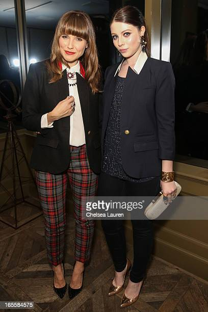 Actresses Sophia Bush wearing SMYTHE and Michelle Trachtenberg wearing SMYTHE attend the SMYTHE Spring 2013 Dinner Hosted By Designers Andrea...