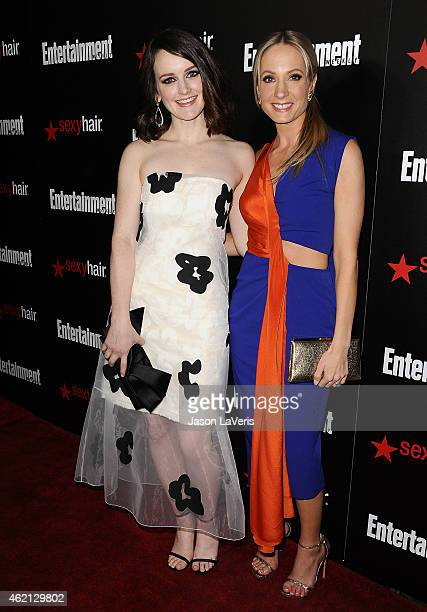 Actresses Sophie McShera and Joanne Froggatt attend the Entertainment Weekly celebration honoring nominees for the Screen Actors Guild Awards at...