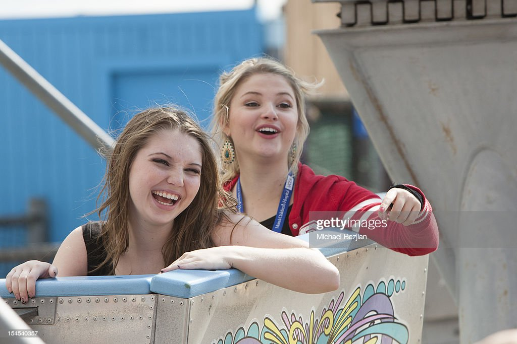 Actresses <a gi-track='captionPersonalityLinkClicked' href=/galleries/search?phrase=Stefanie+Scott&family=editorial&specificpeople=5781540 ng-click='$event.stopPropagation()'>Stefanie Scott</a> and Sammi Hanratty attends Mattel Party On The Pier Benefiting Mattel Children's Hospital UCLA - Inside at Pacific Park at Santa Monica Pier on October 21, 2012 in Santa Monica, California.