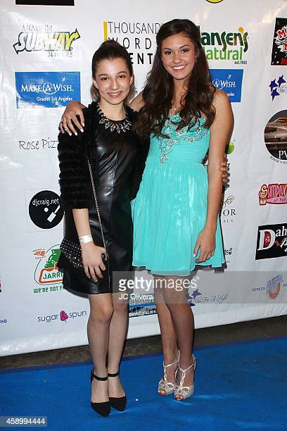 Actresses Stephanie Katherine Grant and Ronni Hawk attend MakeAWish Foundation's Star for a night celebrity benefit at The Vortex on November 8 2014...
