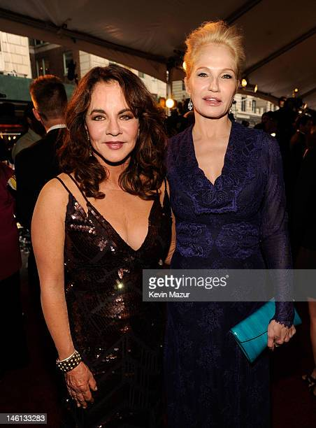 Actresses Stockard Channing and Ellen Barkin attend the 66th Annual Tony Awards at The Beacon Theatre on June 10 2012 in New York City