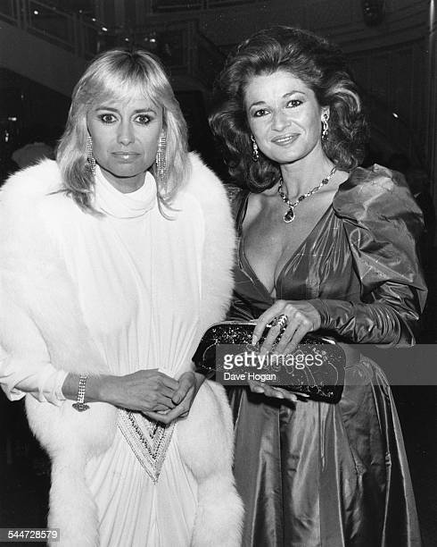 Actresses Susan George and Stephanie Beecham at the BAFTA Awards London March 23rd 1987