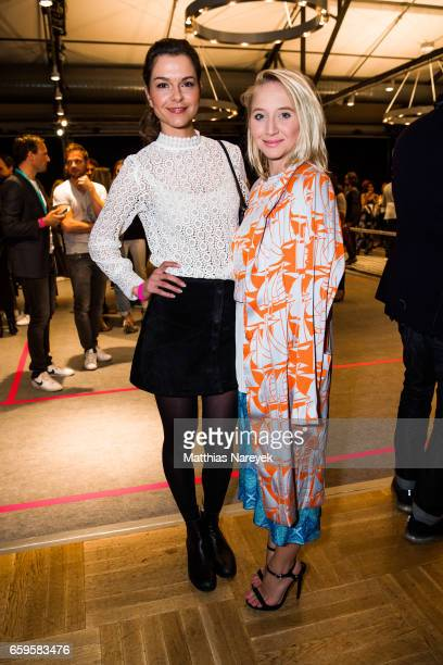 Actresses Susan Hoecke and Anna Maria Muehe attend the BIDI BADU by Kilian Kerner presentation at Ellington Hotel on March 28 2017 in Berlin Germany