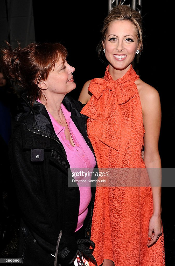 Actresses <a gi-track='captionPersonalityLinkClicked' href=/galleries/search?phrase=Susan+Sarandon&family=editorial&specificpeople=202474 ng-click='$event.stopPropagation()'>Susan Sarandon</a> (L) and <a gi-track='captionPersonalityLinkClicked' href=/galleries/search?phrase=Eva+Amurri&family=editorial&specificpeople=213733 ng-click='$event.stopPropagation()'>Eva Amurri</a> attend the Heart Truth's Red Dress Collection 2011 during Mecerdes-Benz fashion week at The Theatre at Lincoln Center on February 9, 2011 in New York City.