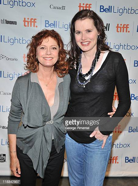 Actresses Susan Sarandon and Geena Davis attend the 20th Anniversary Screening of 'Thelma Louise' at the TIFF Bell Lightbox on June 6 2011 in Toronto...