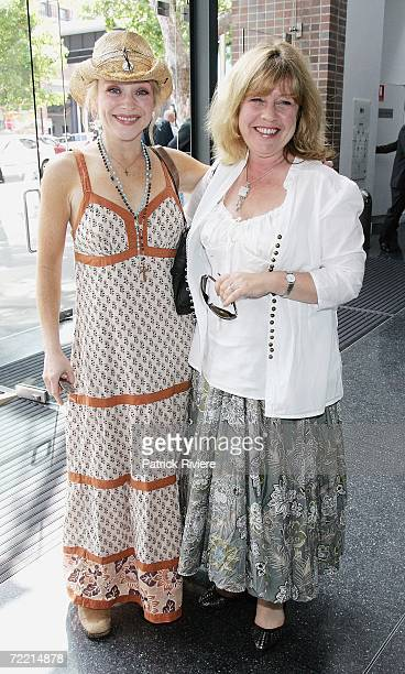 Actresses Susie Porter and Noni Hazlehurst attend the 2006 L'Oreal Paris AFI Awards Nominations at the Sydney Theatre on October 19 2006 in Sydney...