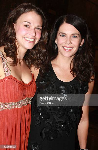 Actresses Sutton Foster and Lauren Graham pose at the Opening Night Party for 'Young Frankenstein' at the New Broadway Musical by Mel Brooks at The...