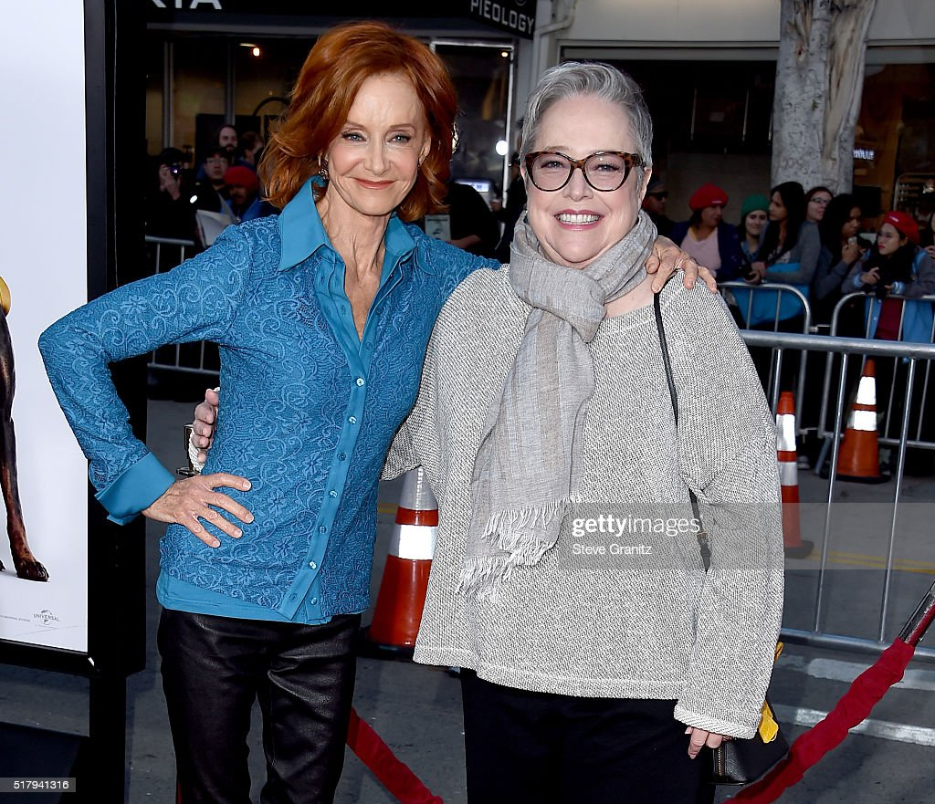 Actresses Swoosie Kurtz and Kathy Bates attend the premiere of USA Pictures' 'The Boss' at Regency Village Theatre on March 28 2016 in Westwood...