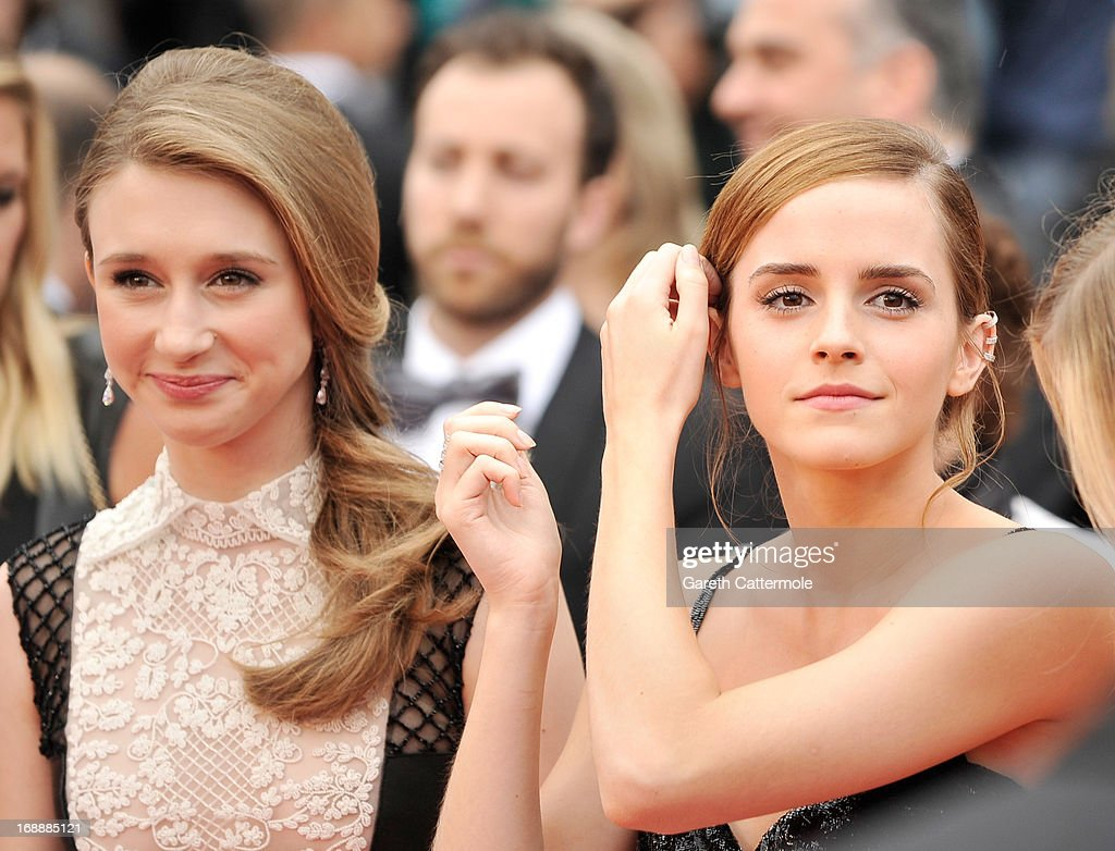 Actresses Taissa Farga and Emma Watson attend 'The Bling Ring' premiere during The 66th Annual Cannes Film Festival at the Palais des Festivals on May 16, 2013 in Cannes, France.