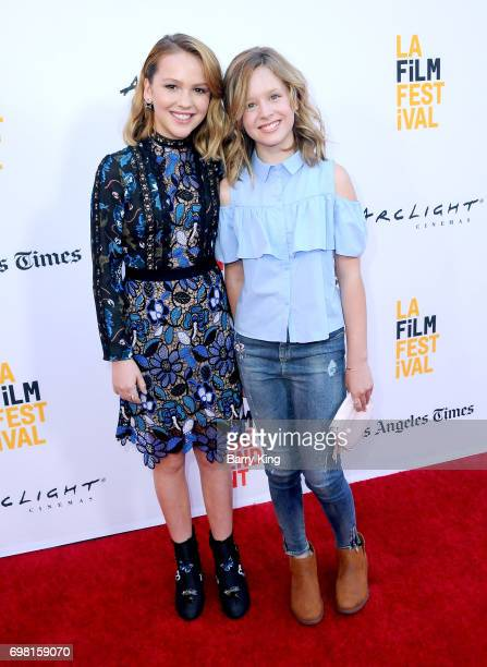 Actresses Talitha Bateman and Lulu Wilson attend the 2017 Los Angeles Film Festival Premiere of Warner Brothers Pictures' 'Annabelle Creation' at The...