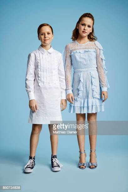 Actresses Talitha Bateman and Lulu Wilson from Annabelle Creation are photographed for Entertainment Weekly Magazine on July 20 2017 at Comic Con in...