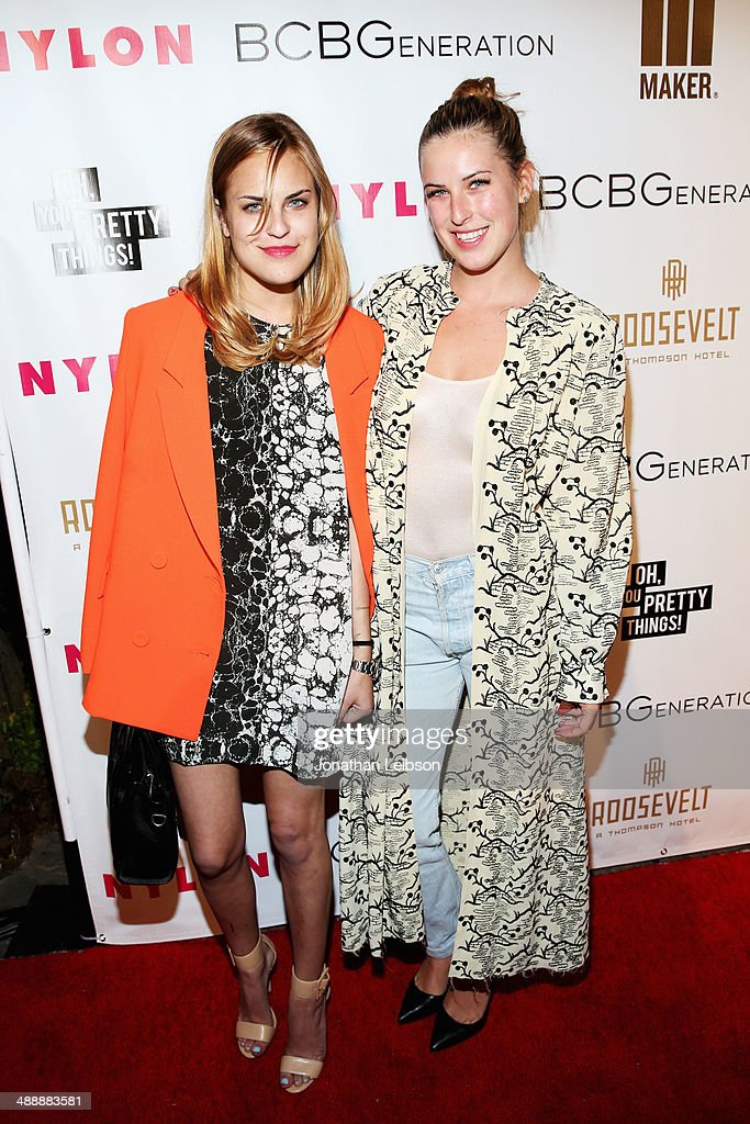 Actresses Tallulah Willis (L) and Scout Willis attend the Nylon + BCBGeneration May Young Hollywood Party at Hollywood Roosevelt Hotel on May 8, 2014 in Hollywood, California.