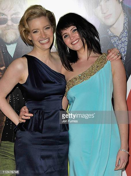 Actresses Talulah Riley and Gemma Arterton attend 'The Boat That Rocked' world premiere at the Odeon Leicester Square on March 23 2009 in London...