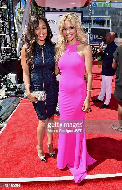 Actresses Tamera Mowry and Jennifer Freeman attend the Pantene Style Stage during BET AWARDS '14 at Nokia Theatre LA LIVE on June 29 2014 in Los...