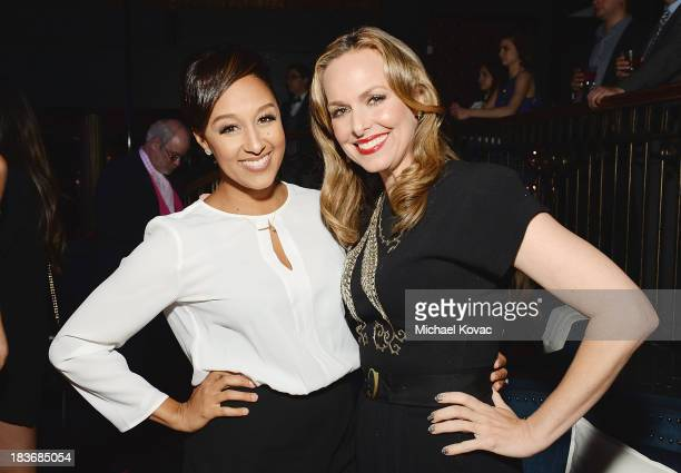 Actresses Tamera Mowry and Melora Hardin attend Club Tacori 2013 at Greystone Manor Supperclub on October 8 2013 in West Hollywood California