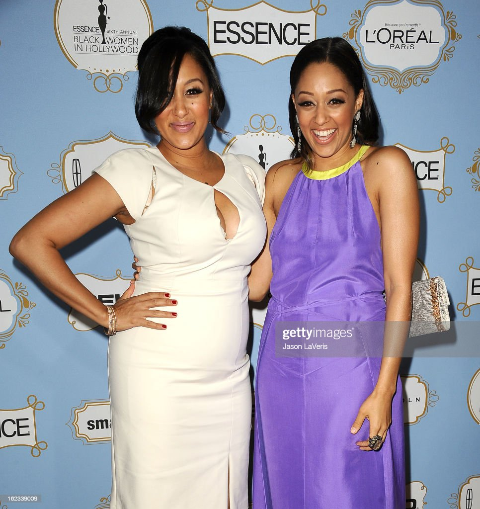 Actresses <a gi-track='captionPersonalityLinkClicked' href=/galleries/search?phrase=Tamera+Mowry&family=editorial&specificpeople=798679 ng-click='$event.stopPropagation()'>Tamera Mowry</a> and <a gi-track='captionPersonalityLinkClicked' href=/galleries/search?phrase=Tia+Mowry&family=editorial&specificpeople=631098 ng-click='$event.stopPropagation()'>Tia Mowry</a> attend the 6th annual ESSENCE Black Women In Hollywood awards luncheon at Beverly Hills Hotel on February 21, 2013 in Beverly Hills, California.