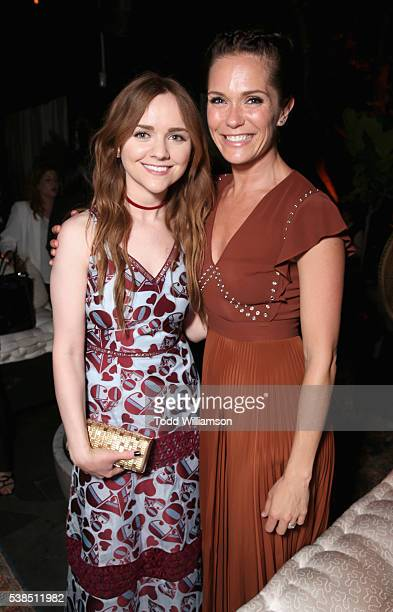 Actresses Tara Lynne Barr and Katie Aselton attend the 'Casual' Season 2 premiere and FYC event at ArcLight Hollywood on June 6 2016 in Los Angeles...