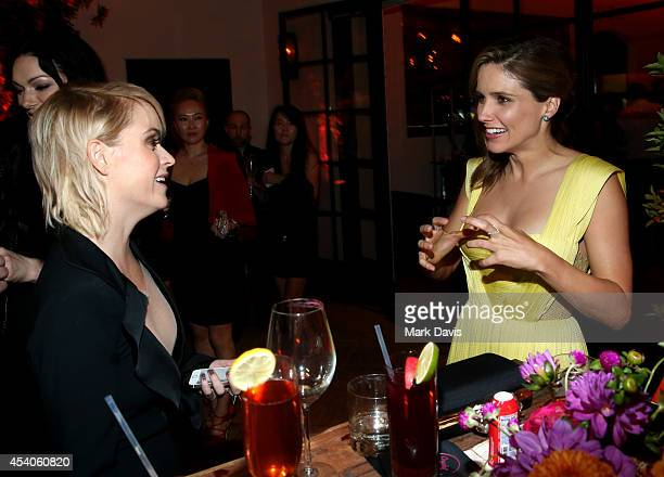 Actresses Taryn Manning and Taylor Schilling attend Variety and Women in Film Emmy Nominee Celebration powered by Samsung Galaxy on August 23 2014 in...