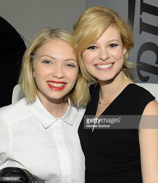 Actresses Tavi Gevinson and Tracey Fairaway attend the Variety Studio presented by Moroccanoil at Holt Renfrew during the 2013 Toronto International...