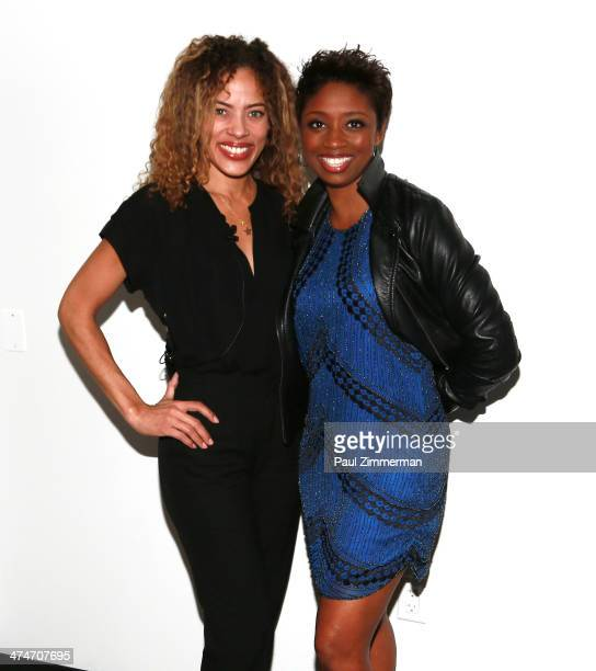 Actresses Tawny Cypress and Montego Glover attend Screen Actors Guild Foundation And 'Made in NY' Talks African American Actors at The New School on...
