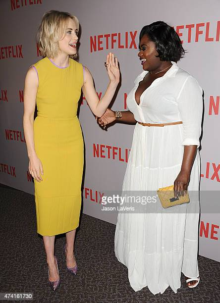 Actresses Taylor Schilling and Danielle Brooks attend Netflix's 'Orange Is The New Black' For Your Consideration screening and QA at Directors Guild...