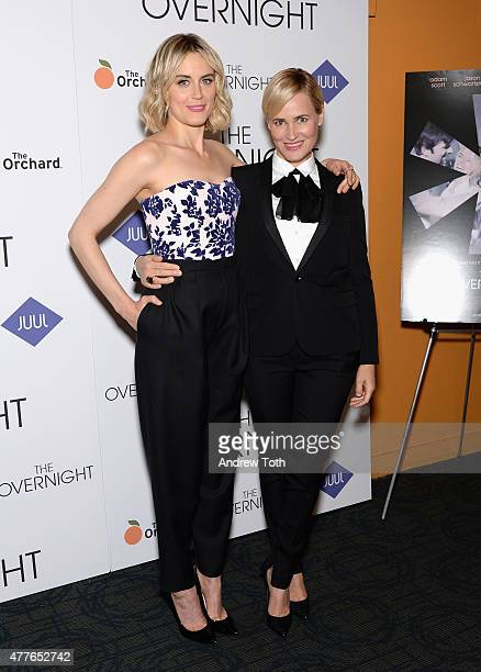 Actresses Taylor Schilling and Judith Godreche attend 'The Overnight' New York Premiere at Sunshine Landmark on June 18 2015 in New York City